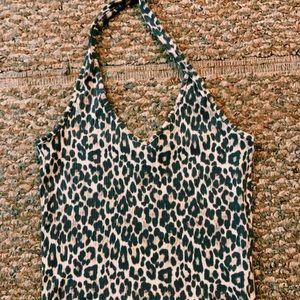 cheetah print halter top